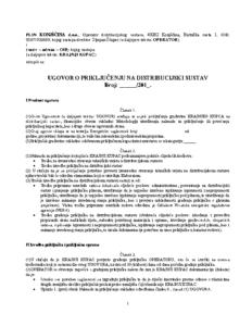 Ugovor o priključenju na distribucijski sustav